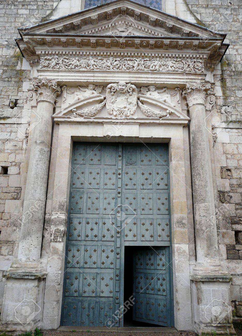 Medieval church door with stone lintel Stock Photo - 4014772
