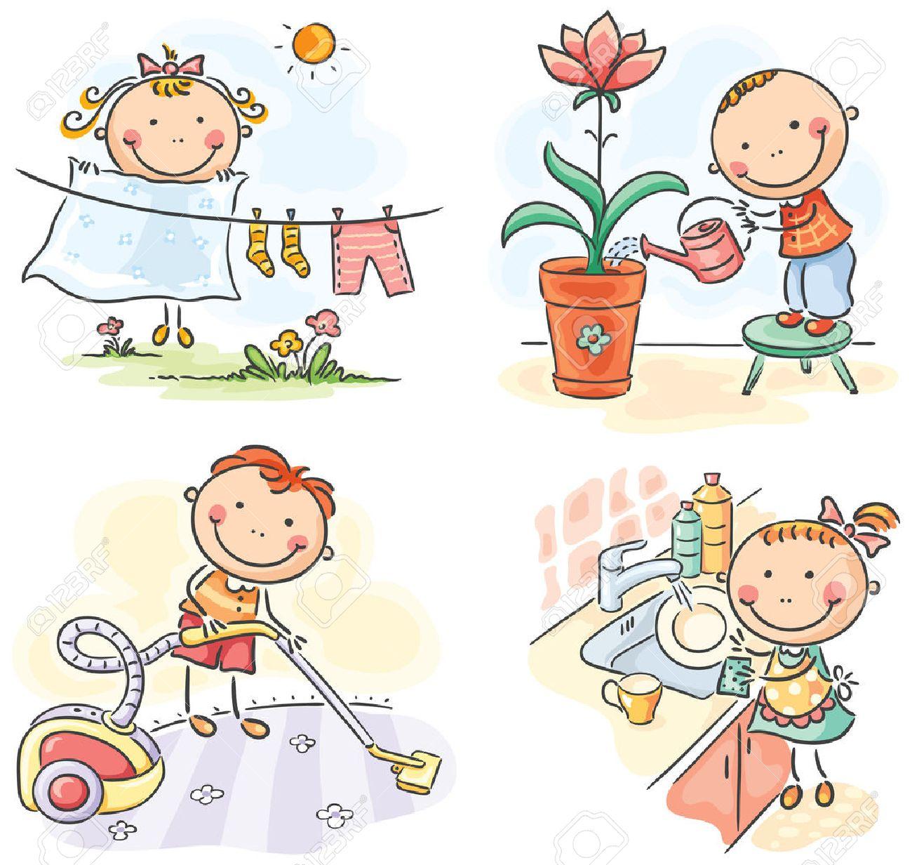 Resultado de imagen de tareas domesticas niños
