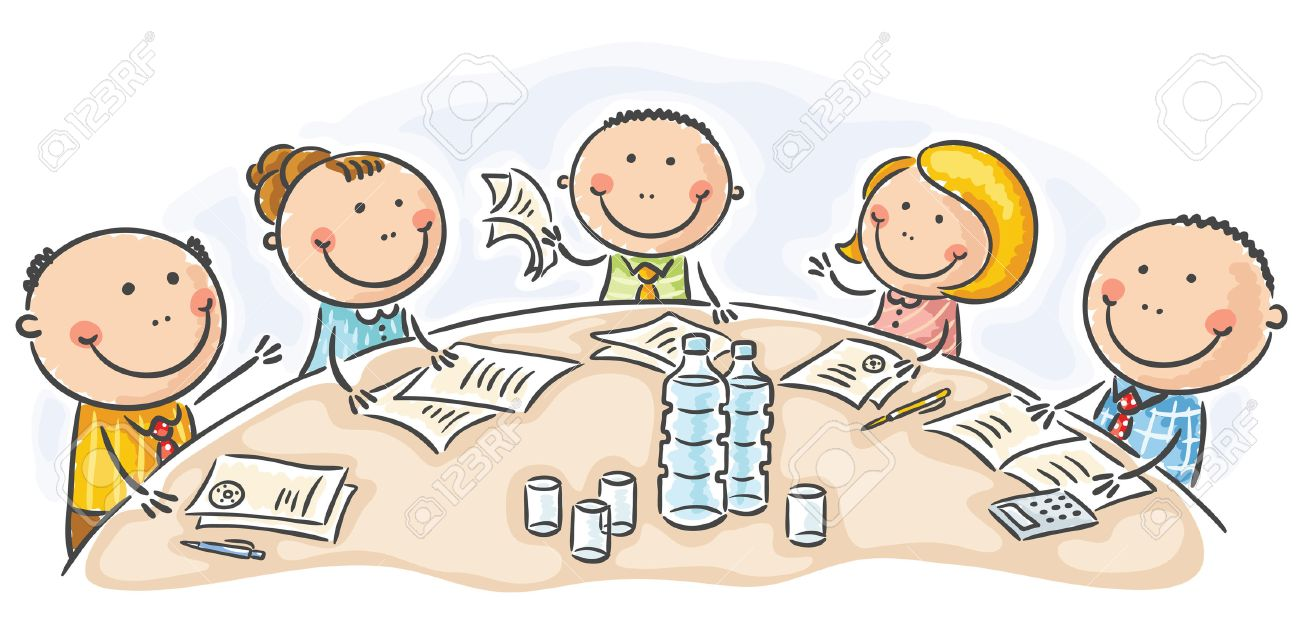 Cartoon Meeting Or Conference Round The Table Royalty Free Cliparts,  Vectors, And Stock Illustration. Image 31993569.