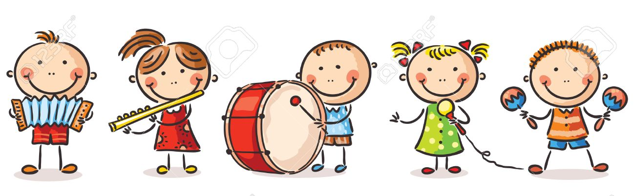 Image result for children musical instruments cartoon