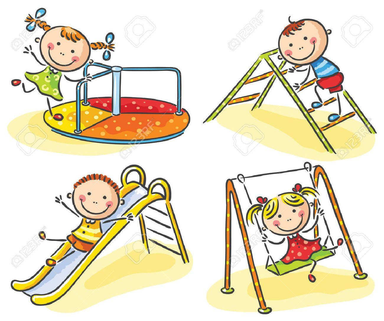 Рисунок на тему дети играют на детской площадке 2