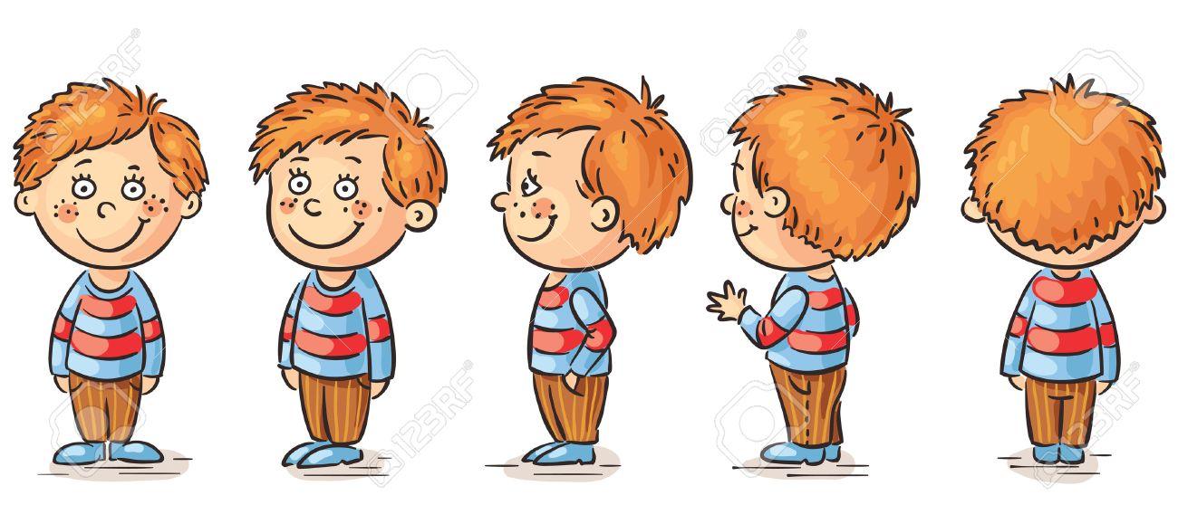 Petit Garçon Personnage De Dessin Animé Redressement Clip Art Libres