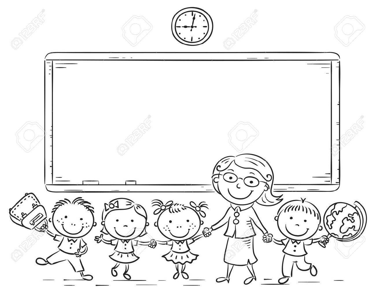 Teacher Blackboard Cliparts, Stock Vector And Royalty Free Teacher  Blackboard Illustrations