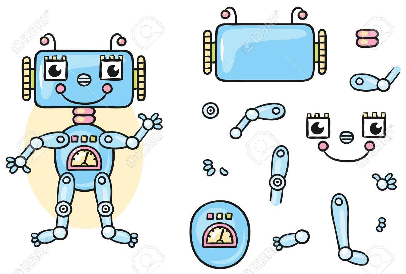 Roboter Karosserieteile Für Kinder, Die Zusammen Zu Bringen, Keine ...