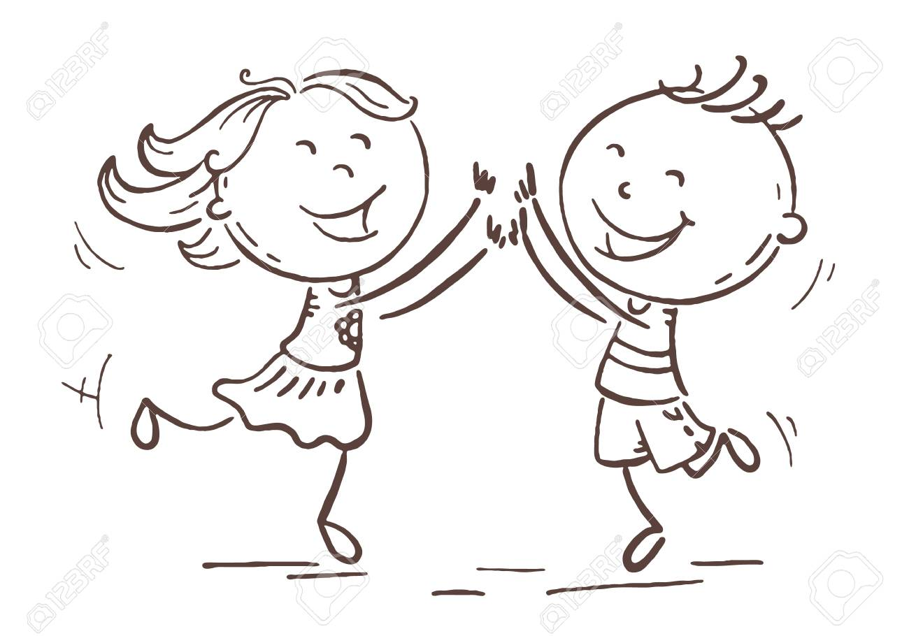 boy and girl jumping with joy to celebrate some victory or success royalty free cliparts vectors and stock illustration image 107168719 boy and girl jumping with joy to celebrate some victory or success