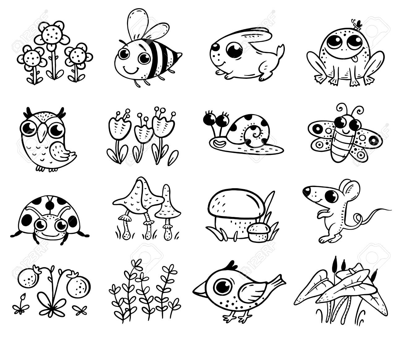 Woodland Animal Coloring Pages
