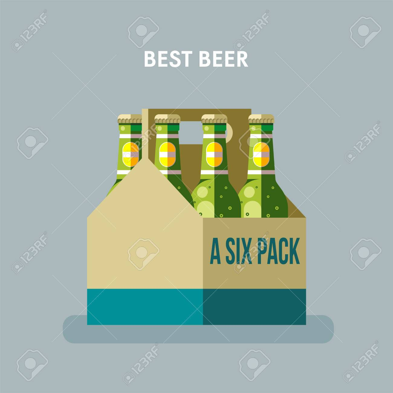 Beer Bottles A Six Pack Royalty Free Cliparts Vectors And Stock Illustration Image 84168434