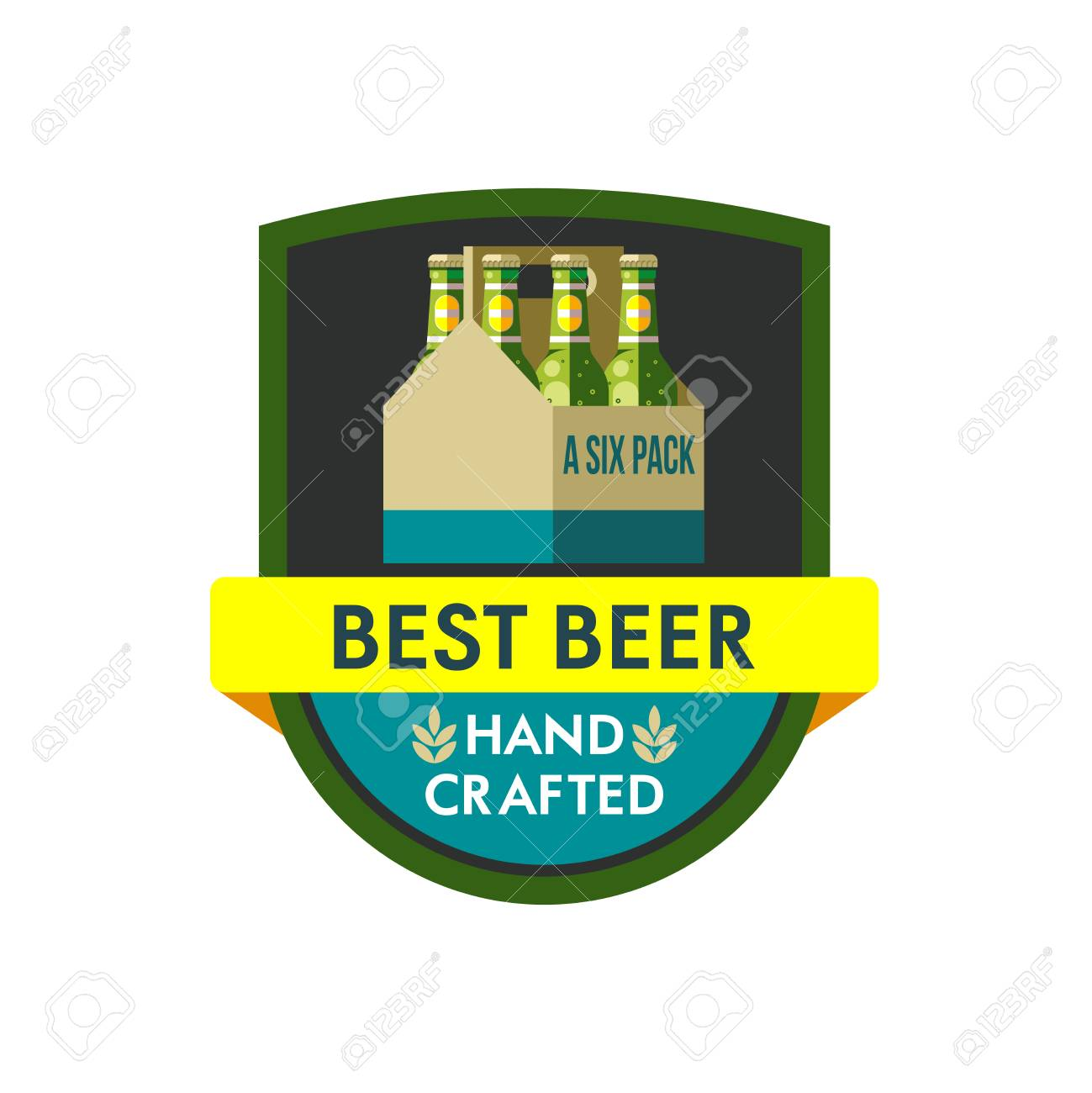 Vector Illustration Icon Packaging Of Bottled Beer Six Pack Royalty Free Cliparts Vectors And Stock Illustration Image 84262791