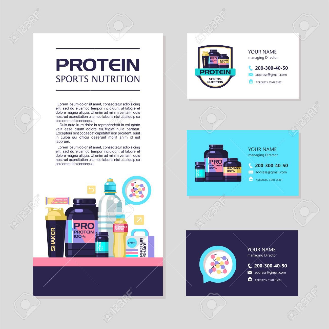 Identite Dentreprise Cartes De Visite Prospectus Proteines