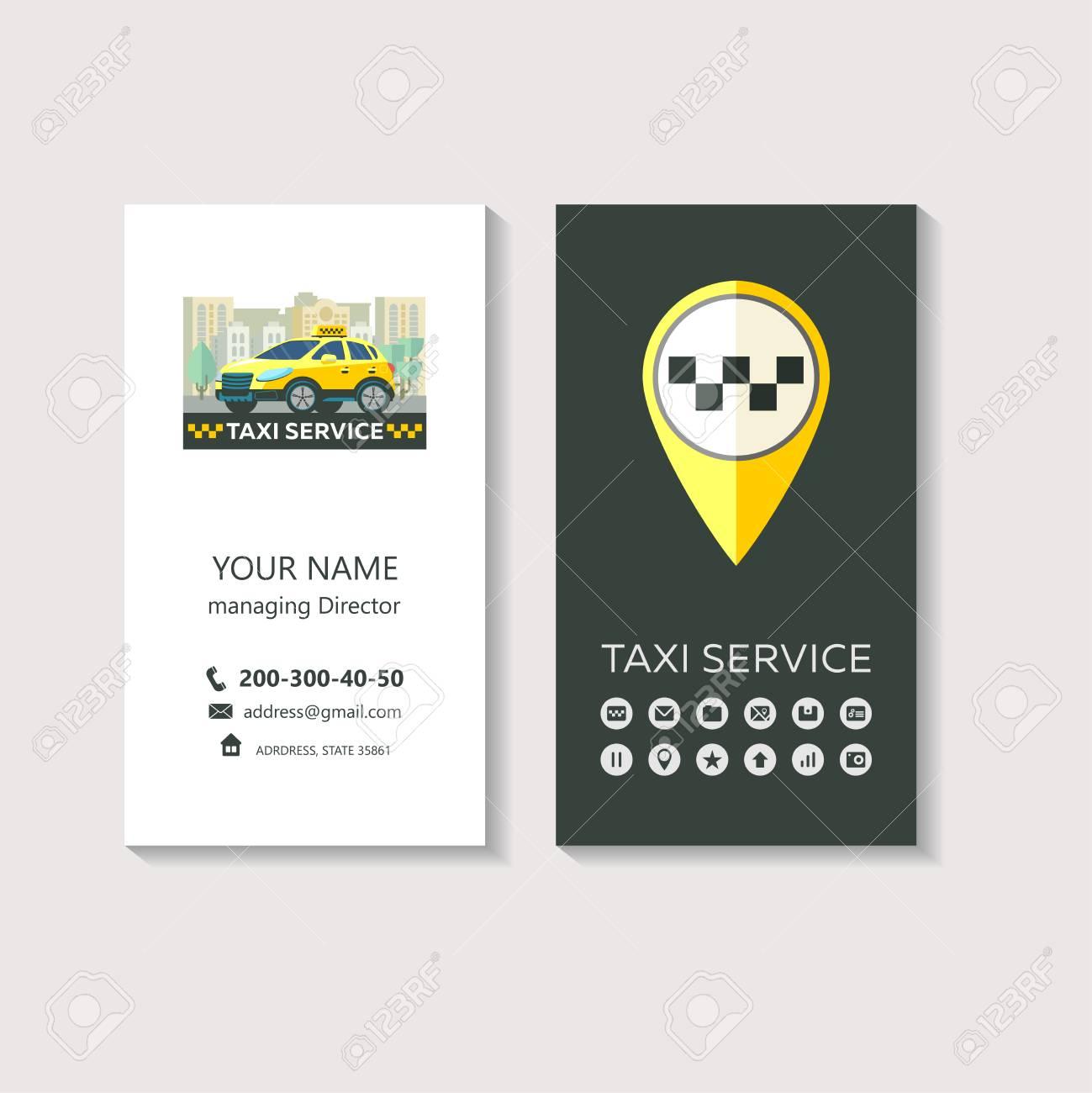 Logo Vectoriel Du Service De Taxi Identit Dentreprise Carte