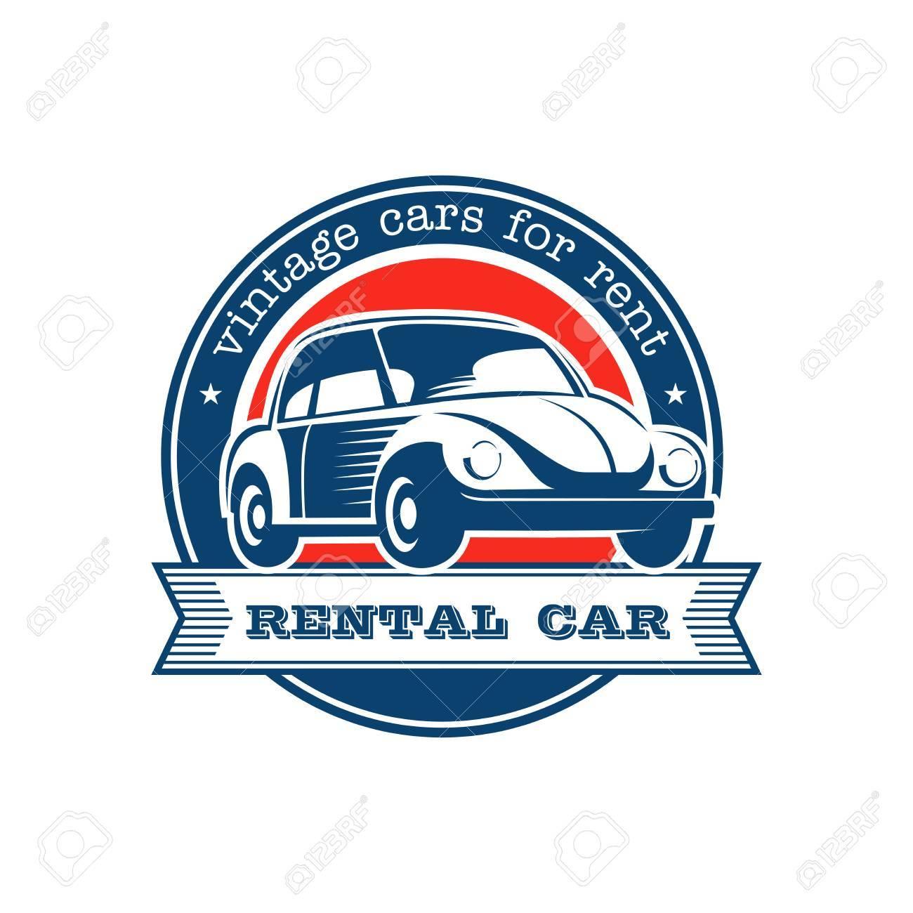Vintage Car. Vintage Car Rental. Vector Logo. Emblem Isolated ...