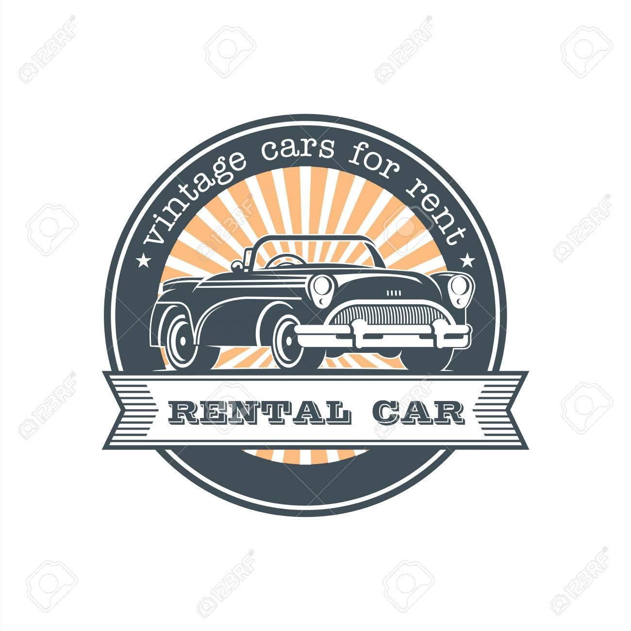 Vintage Car Rental Vector Logo Emblem Royalty Free Cliparts Vectors And Stock Illustration Image 86092024