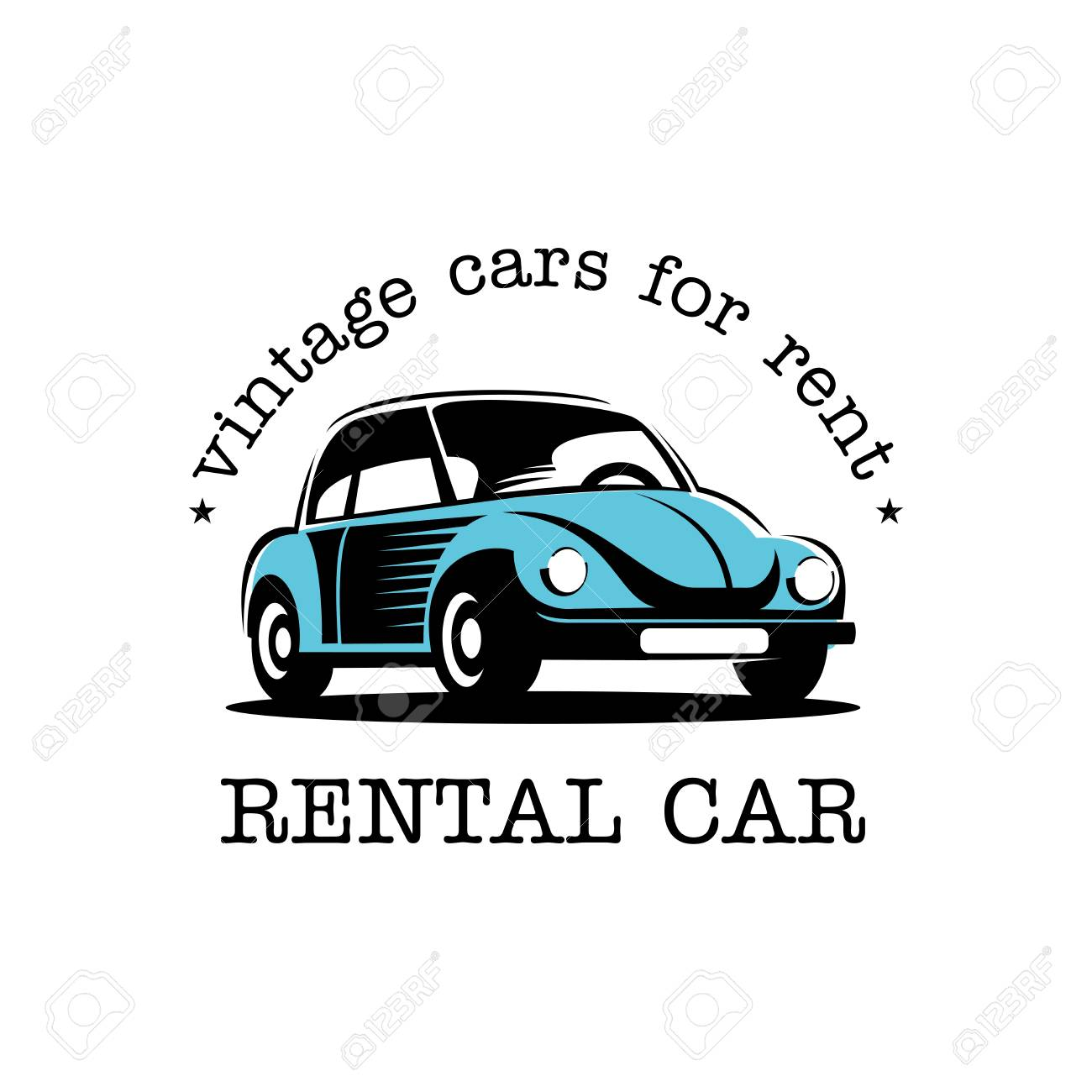 Rental Of Vintage Cars. Rental Of Vintage Cars. Vector Sign ...