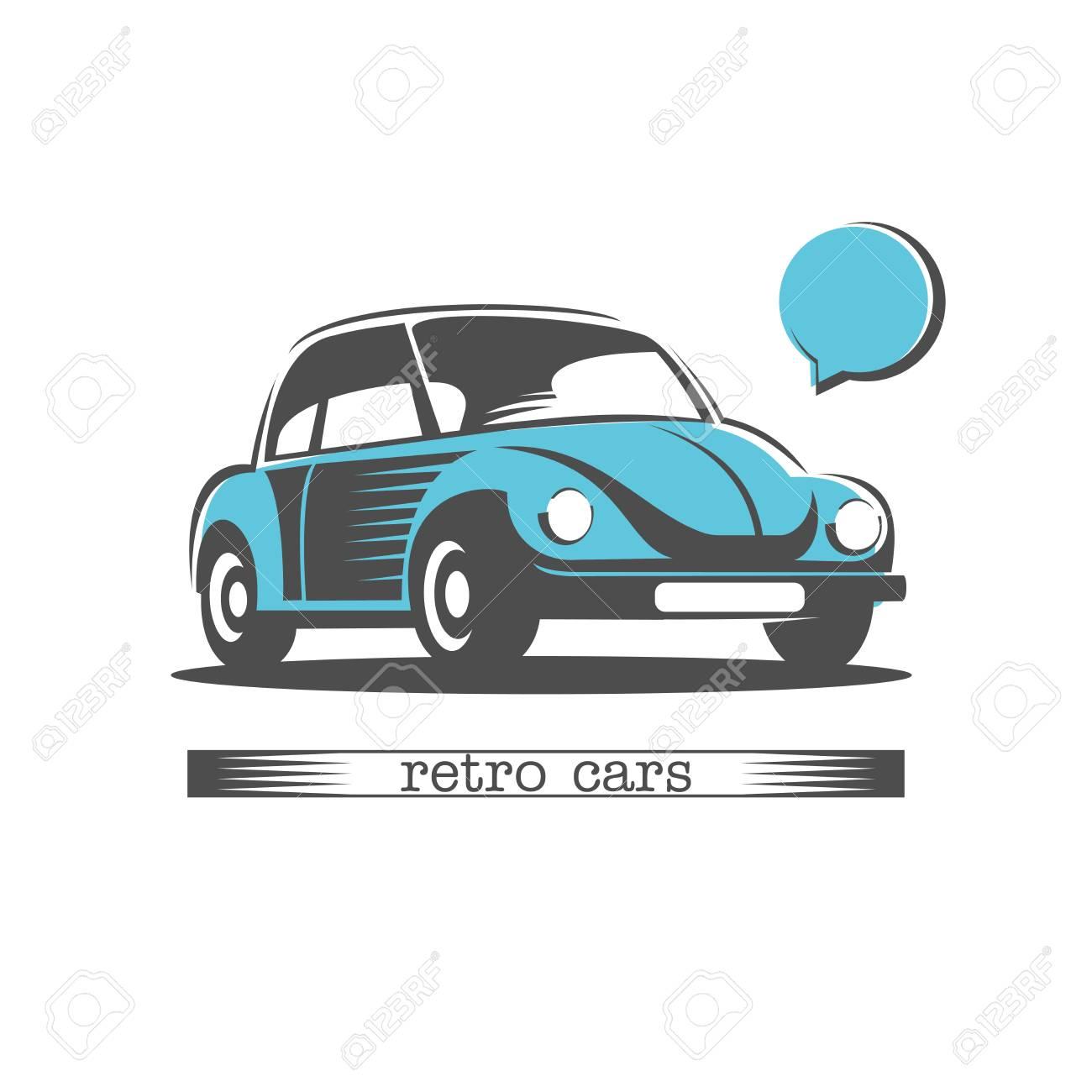 Retro Car. Vector Logo. Logo For Car Dealership, Auto Repair Shop ...