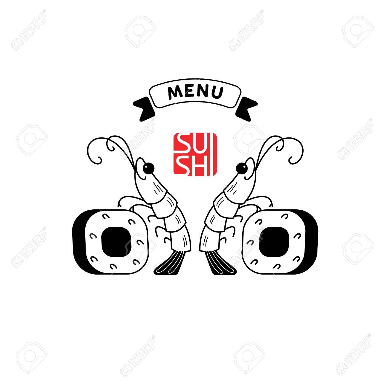 logo shrimp sushi shrimp and sushi vector illustration sign rh 123rf com shrimp logo restaurant shrimp logo psd