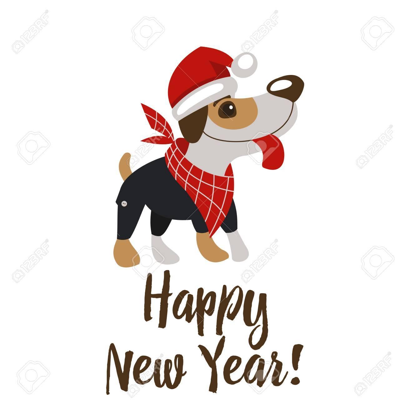Frohes Neues Jahr Und Frohe Weihnachten Grusskarte Mit Lustigem