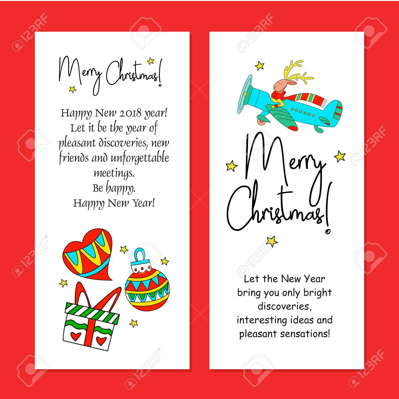 Merry Christmas Design Vector Illustration Royalty Free Cliparts
