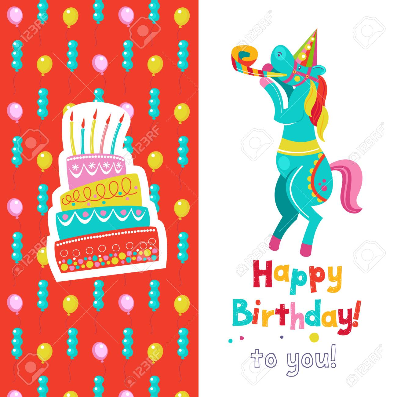Congratulations on your birthday invitation to a festive party congratulations on your birthday invitation to a festive party funny circus horse and a filmwisefo