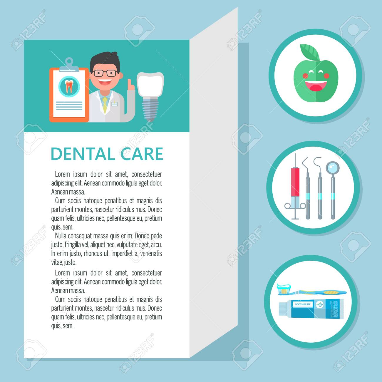 Dental Care Template Of A Flyer Brochure Dental Clinic Dentist