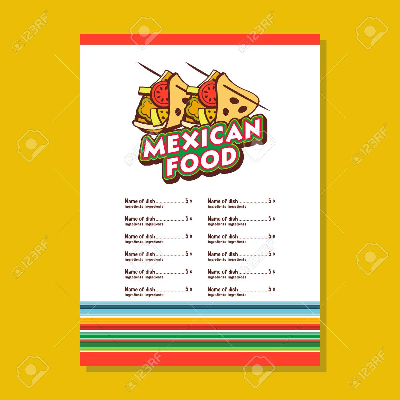 mexican restaurant menu template tacos the national mexican