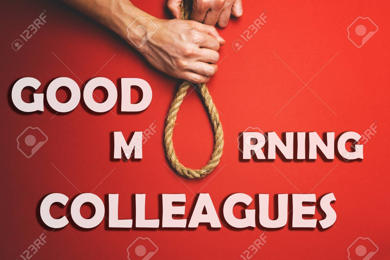 A Man Pulls A Noose The Concept Of The Real Relationship Between