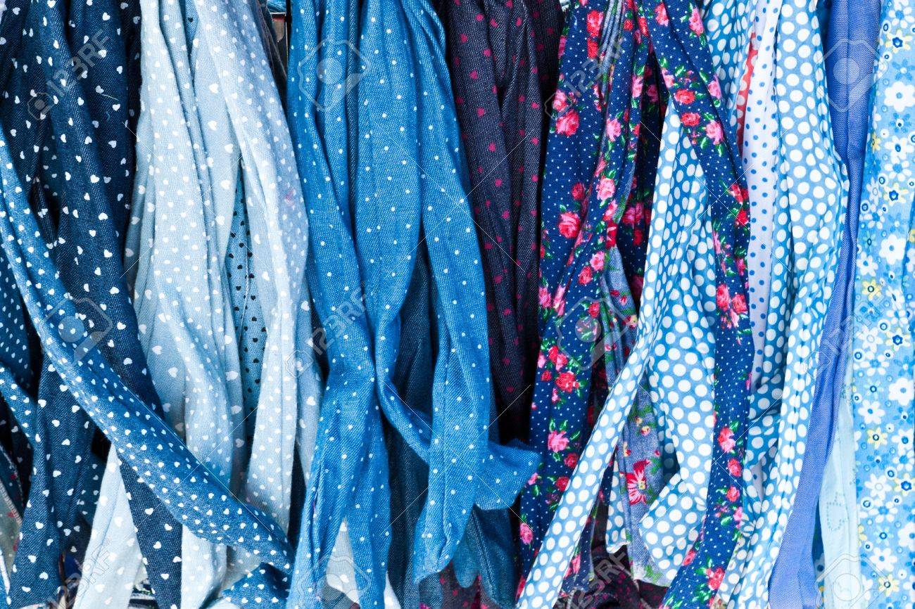 beautiful fabrics and rich colors stock photo, picture and royalty
