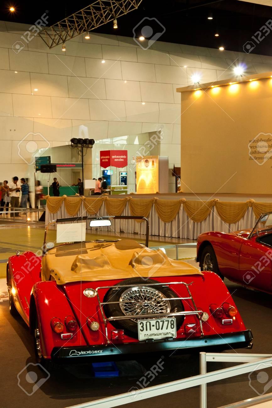 BANGKOK-DEC 01: Classic Car Morgan Plus 4 Made In Great Britain ...