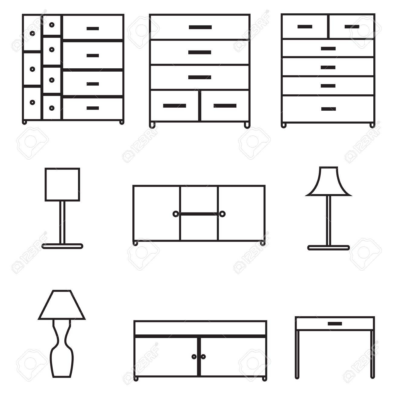 furniture icons set Stock Vector - 21423166