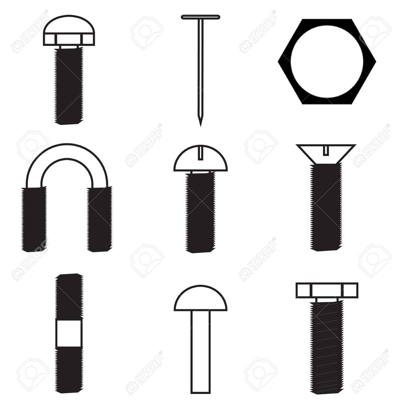 Set of screws icon Stock Vector - 21423209