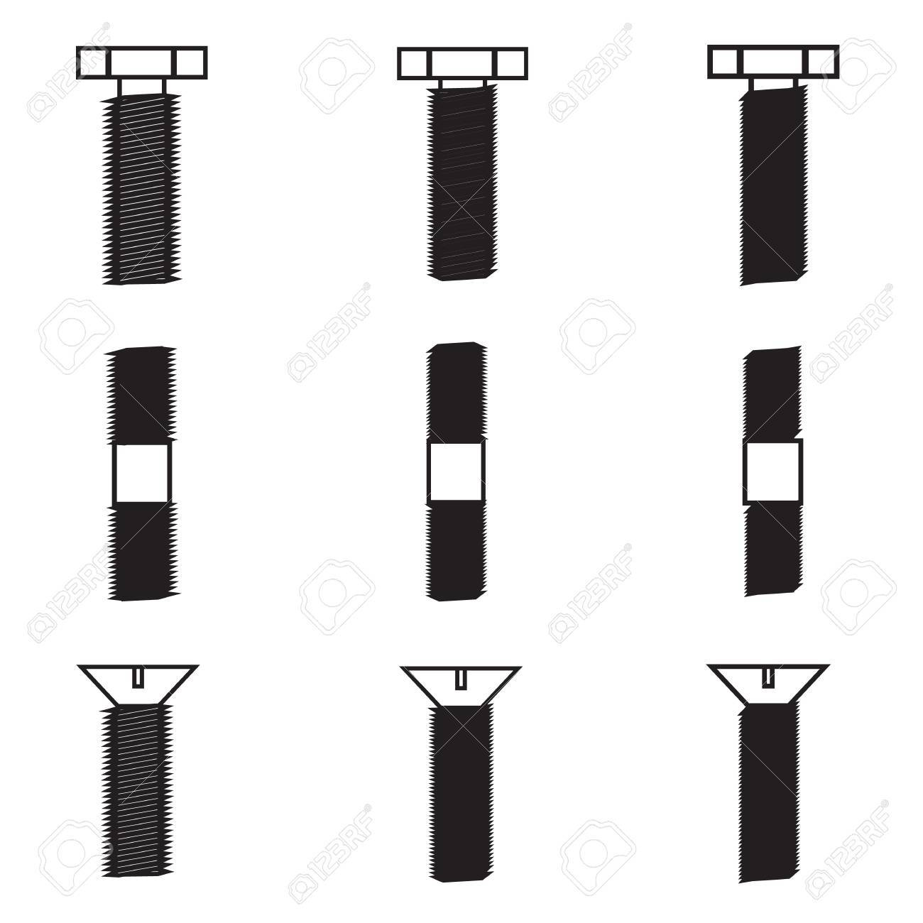 Set of screws icon Stock Vector - 21423221