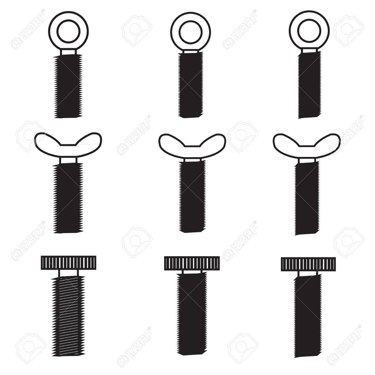 Set of screws icon Stock Vector - 21423223