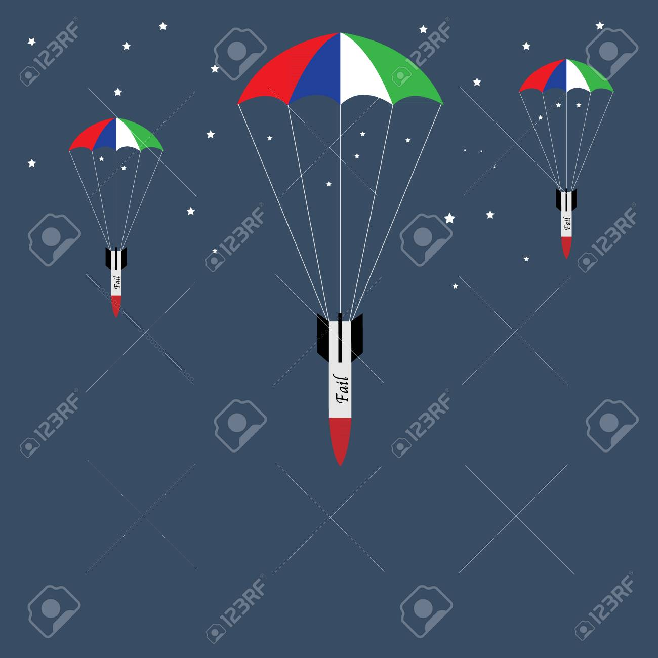 fail investment  missile concept Stock Vector - 22736082