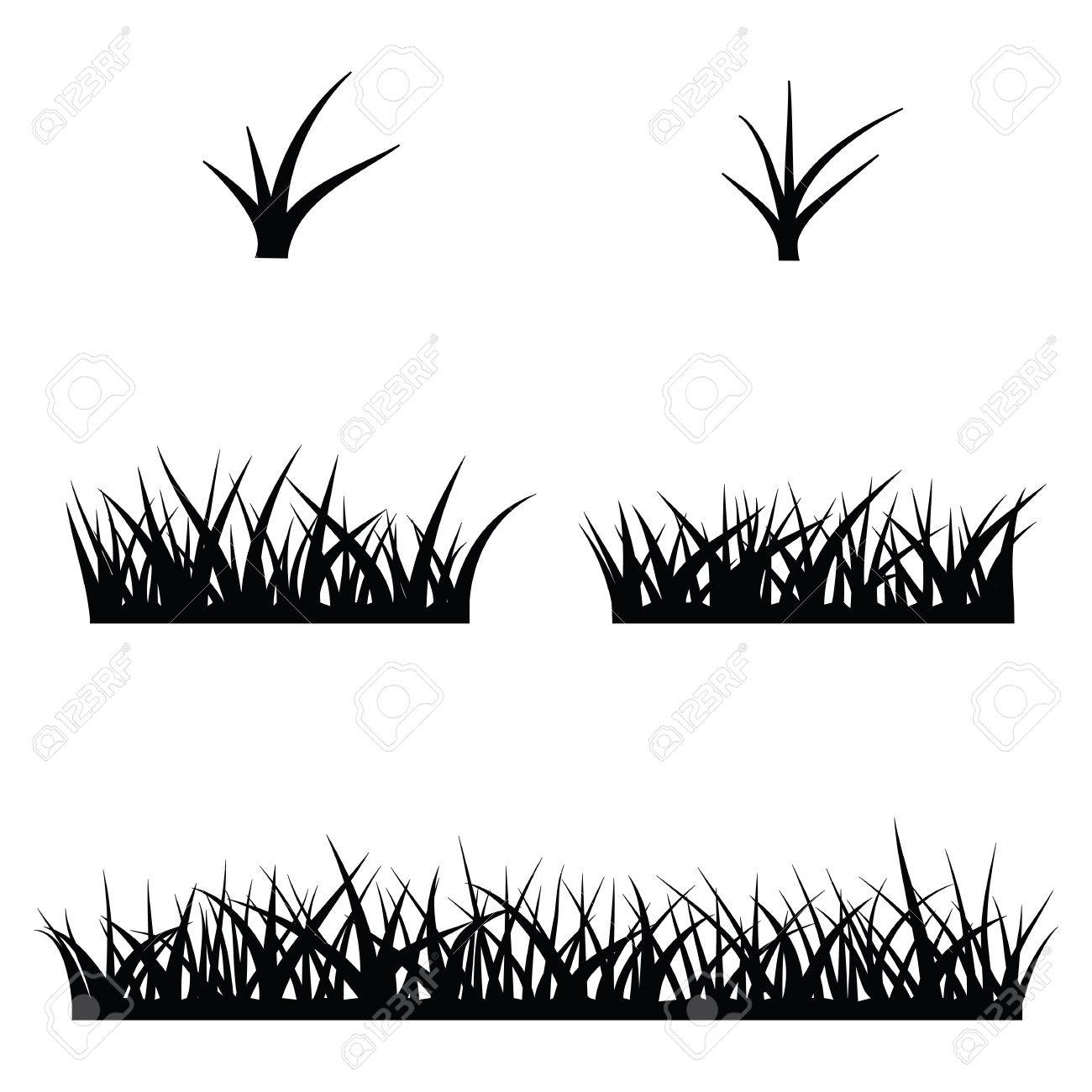 black silhouette of grass royalty free cliparts vectors and stock illustration image 54938067 black silhouette of grass