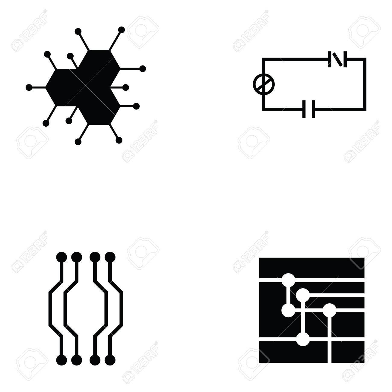 circuit board icon set royalty free cliparts vectors and stock rh 123rf com vector circuit board pattern free vector circuit board pattern free