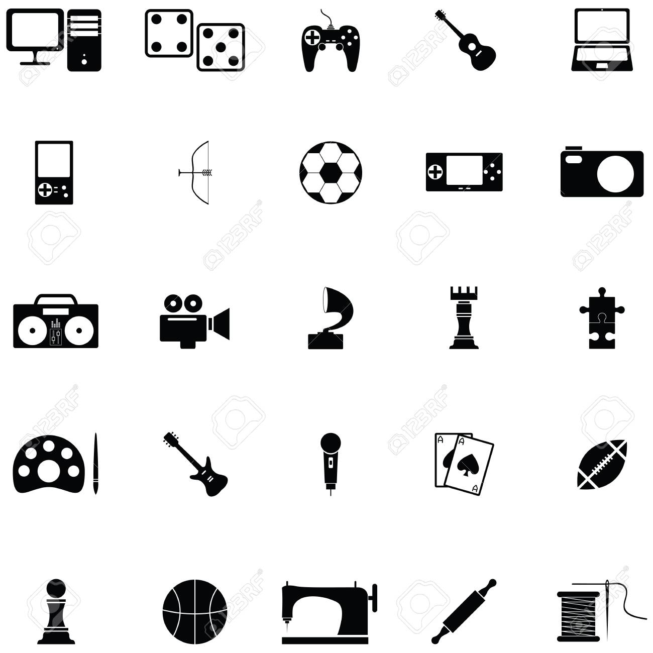 Hobby Icon Set Royalty Free Cliparts Vectors And Stock Illustration Image 94387496