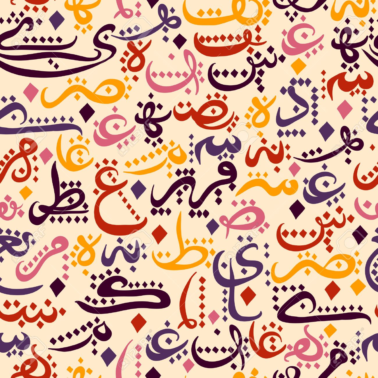 seamless pattern ornament Arabic calligraphy of text Eid Mubarak concept for muslim community festival Eid Al FitrEid Mubarak - 43922125