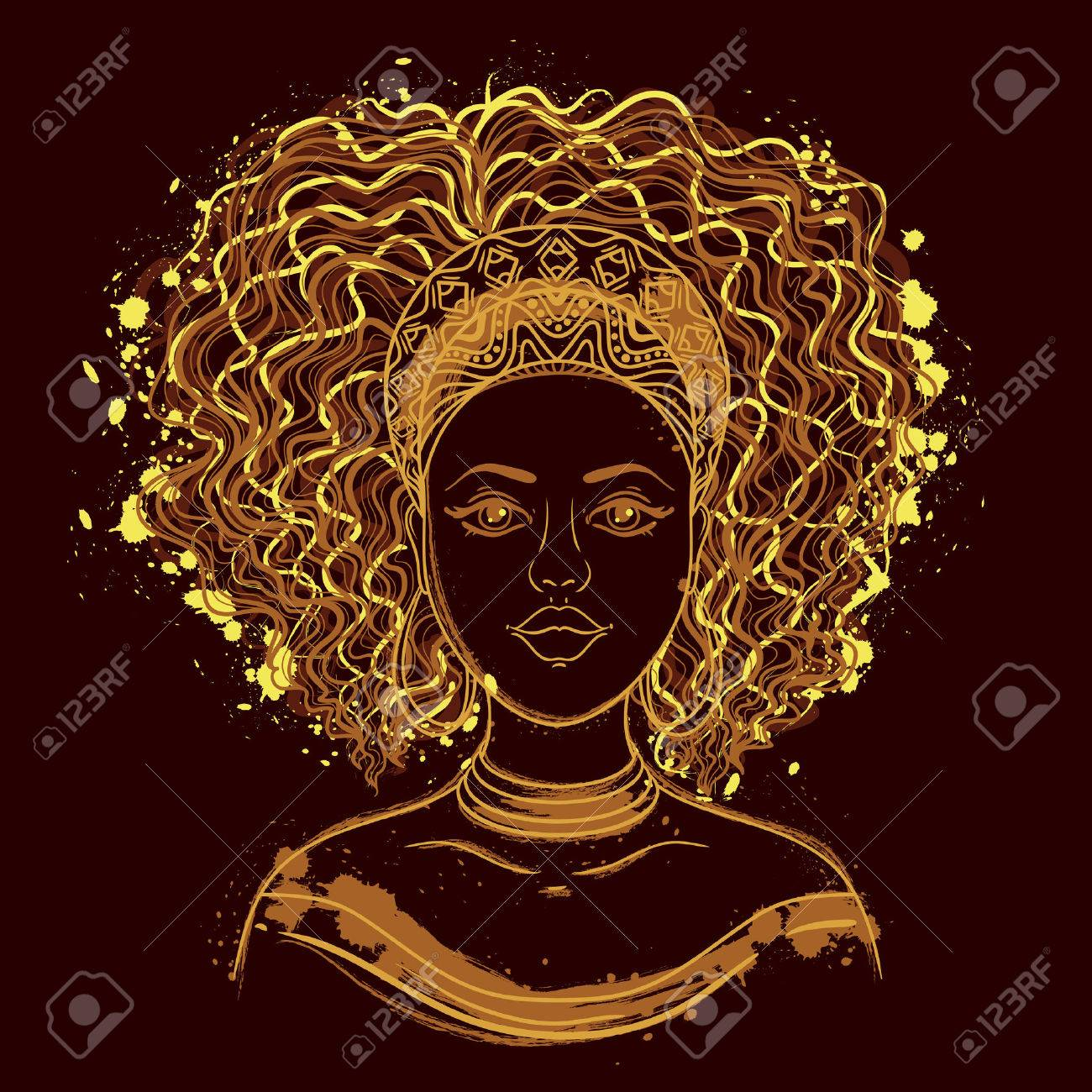 Portrait of African woman. - 63173453