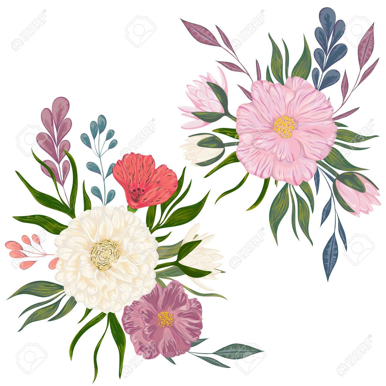 Collection decorative design elements for wedding invitations collection decorative design elements for wedding invitations and birthday cards flowers leaves and buds izmirmasajfo