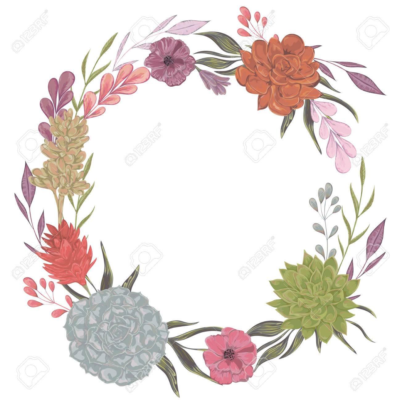 colección de decoración elementos de diseño floral para invitaciones