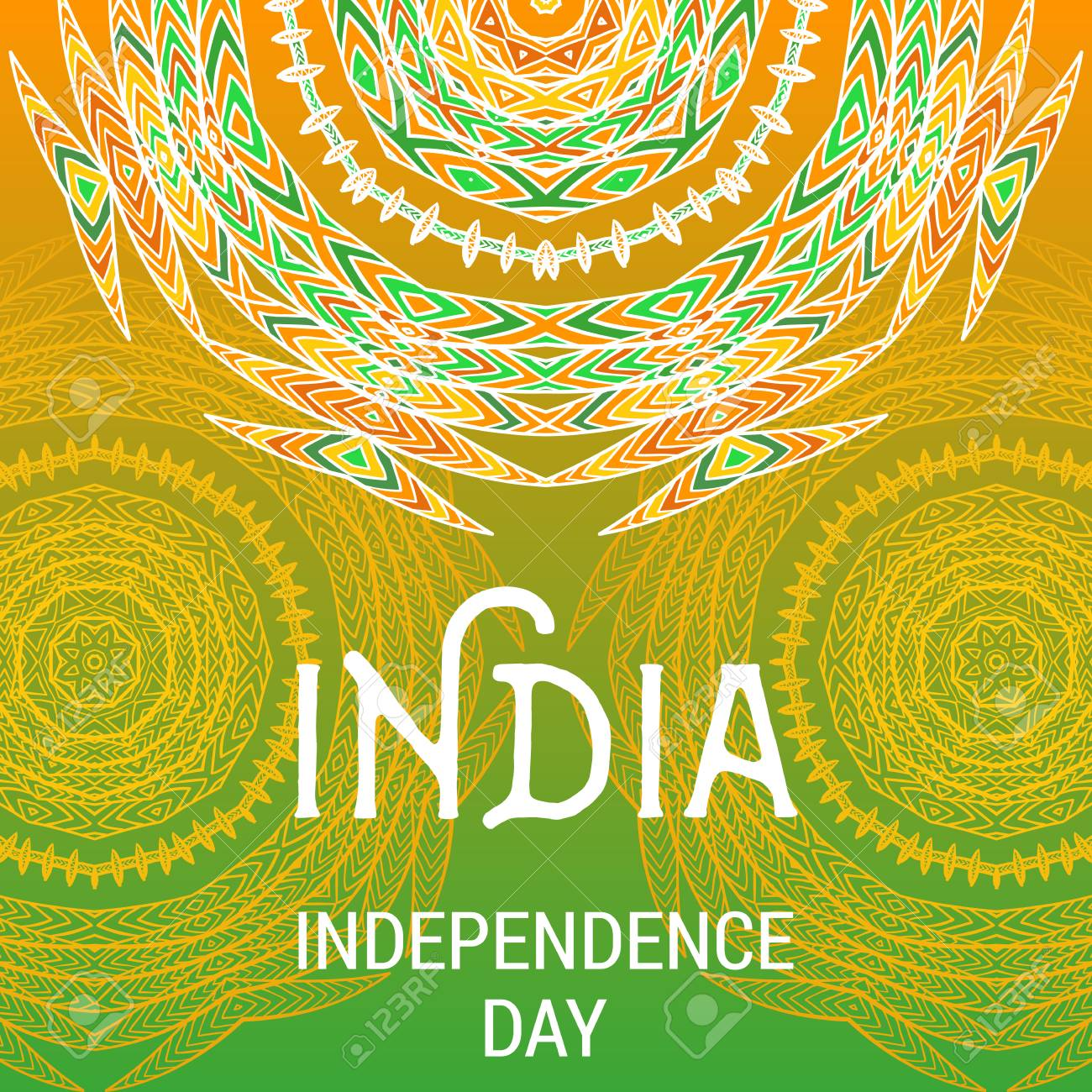 India Independence Day Beautiful Greeting Card Invitation For