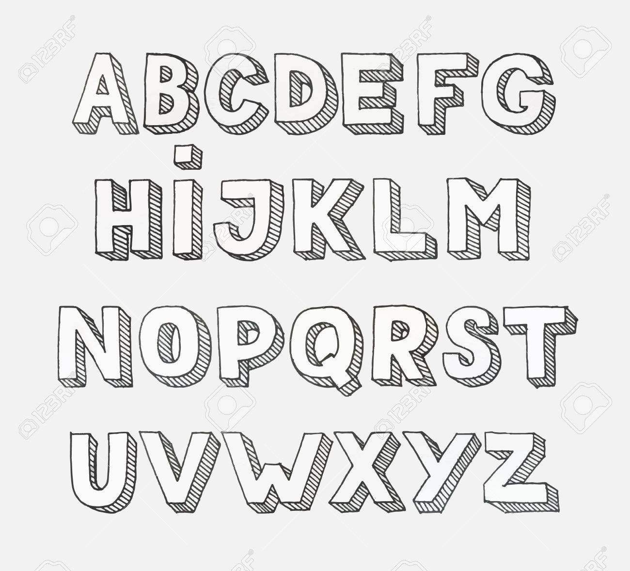 alphabet letters letters of the alphabet written with a brush
