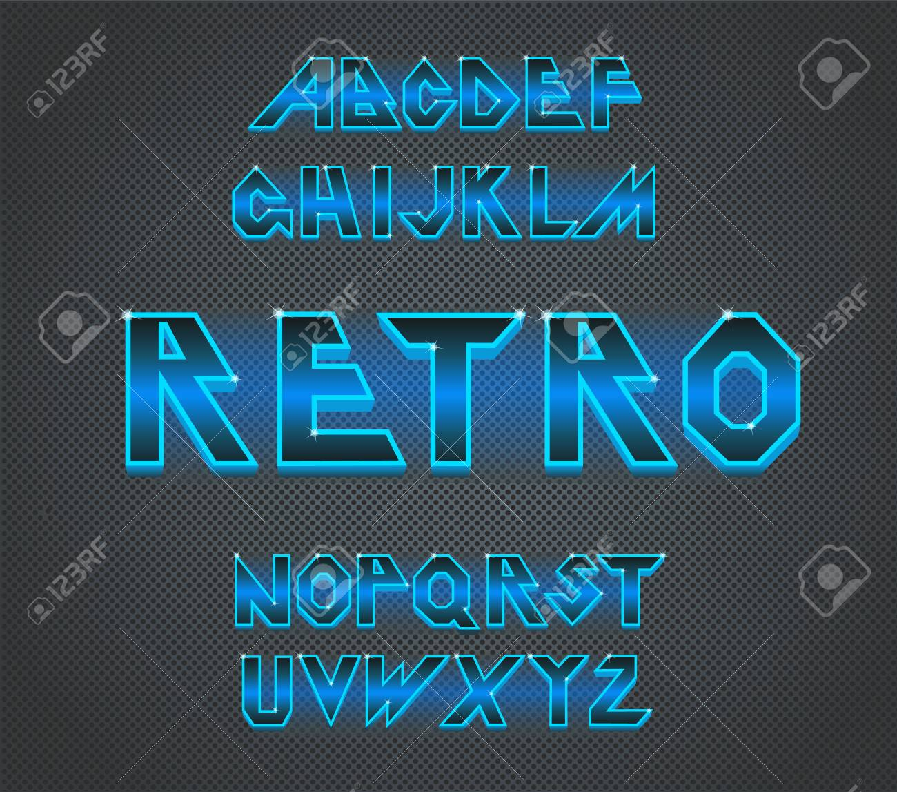 80 s retro font Vector typography for flyers,headlines, posters Effect