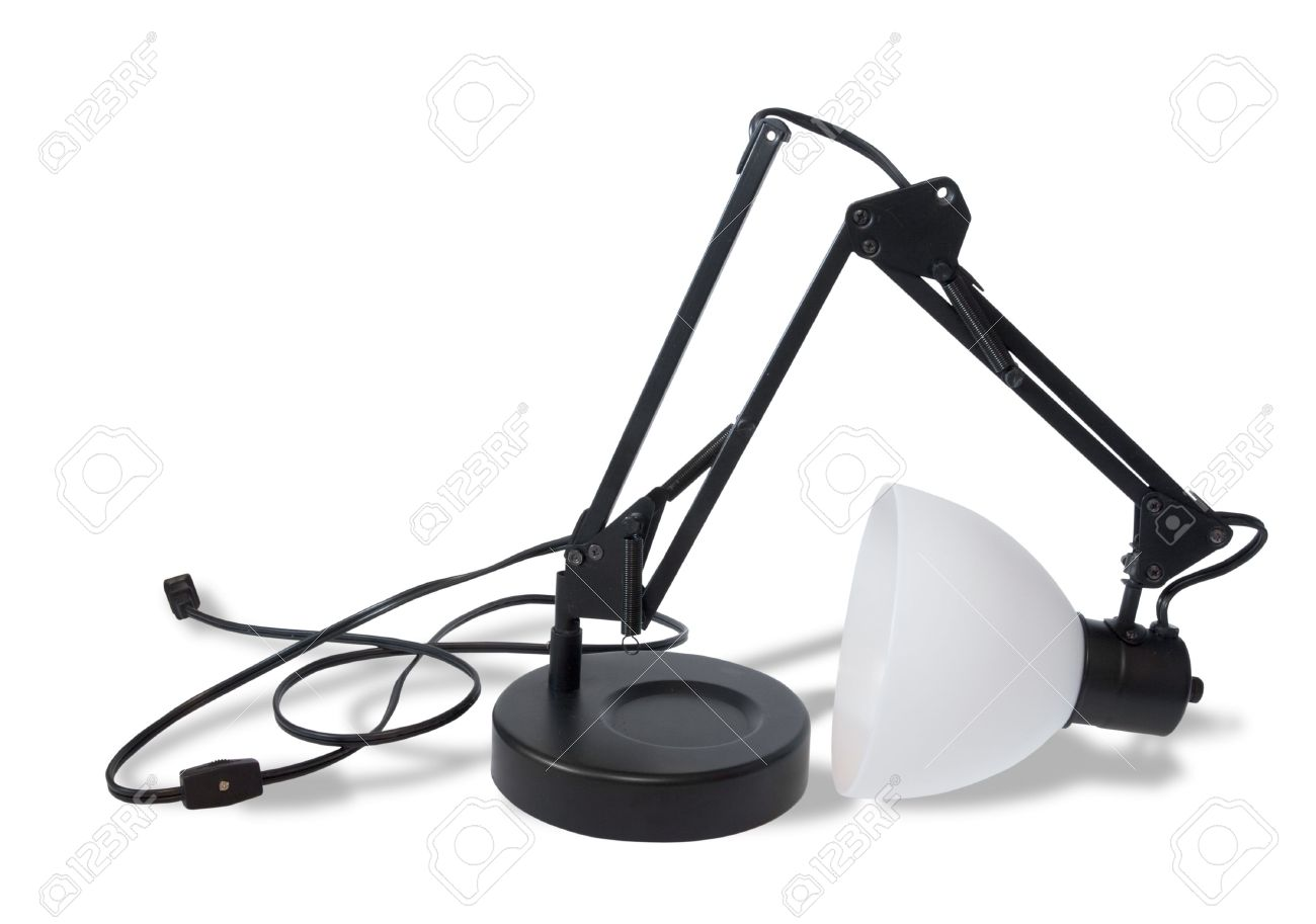 Broken Lamp On White II Stock Photo, Picture And Royalty Free ...