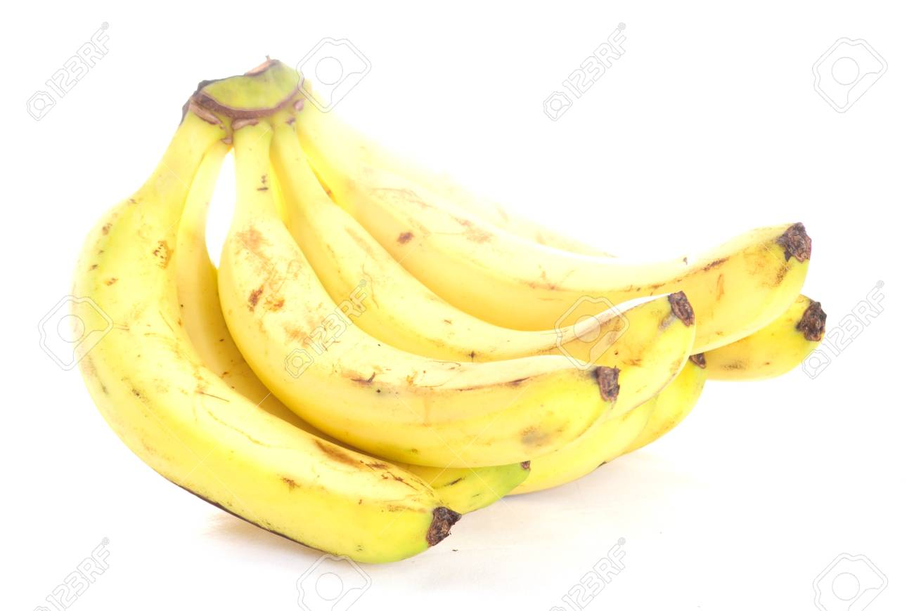 Bunch of bananas isolated on white Stock Photo - 13066987