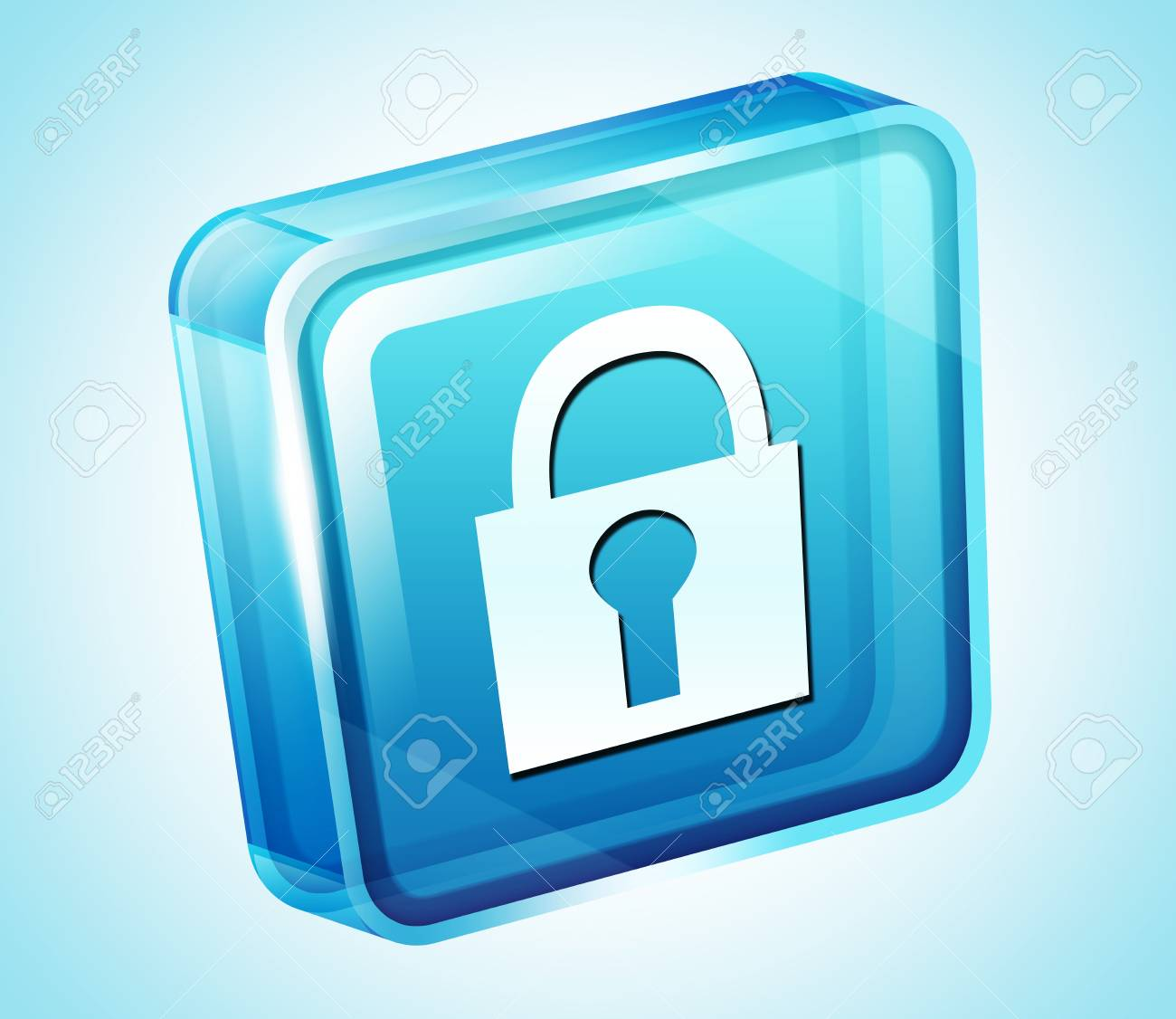 Transparent to the 3d icon Stock Photo - 15903280