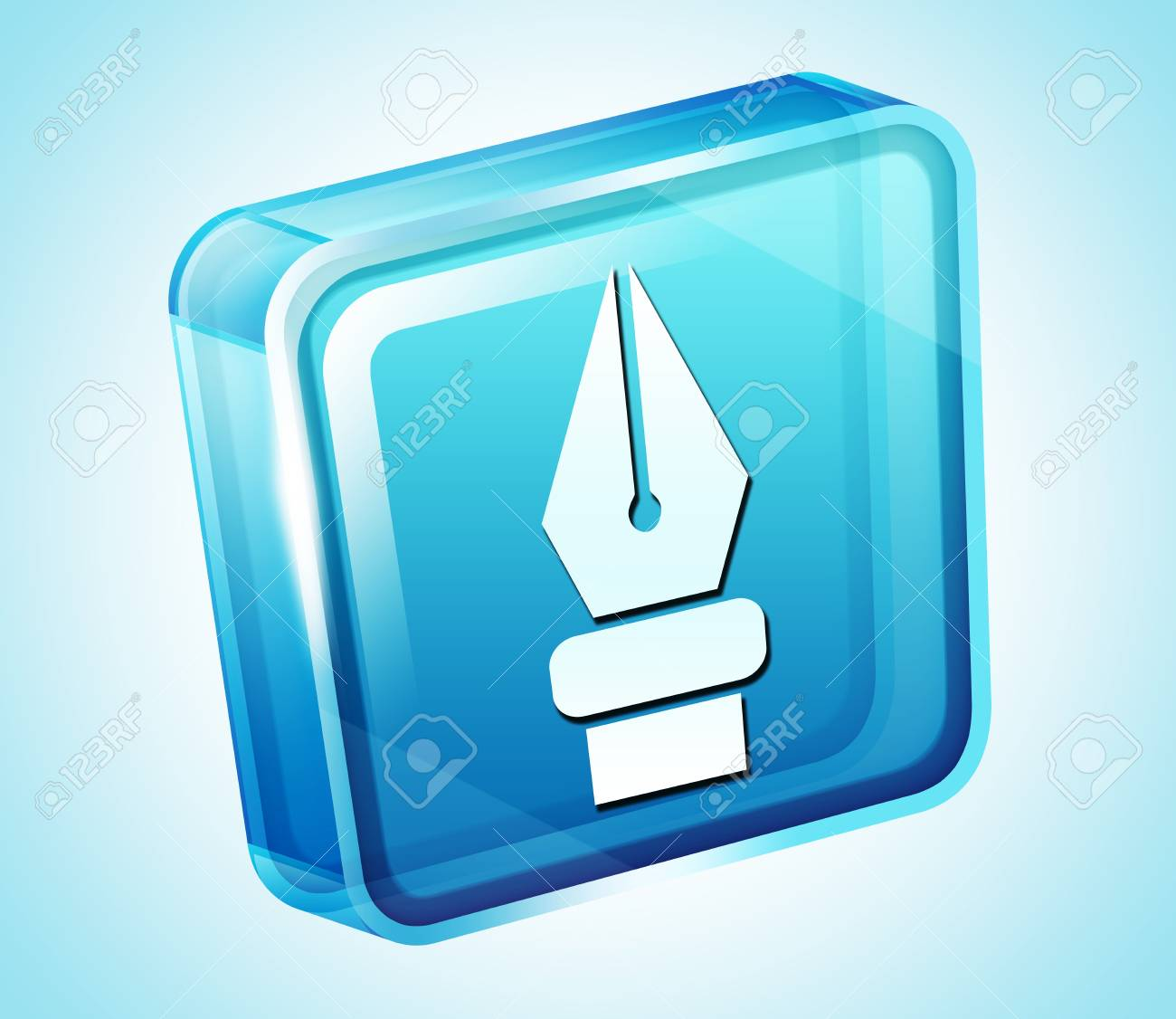 Transparent to the 3d icon Stock Photo - 15903285