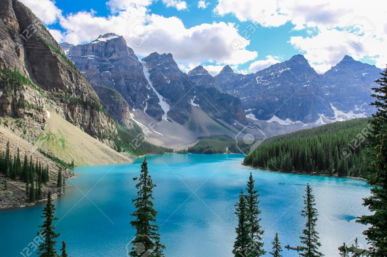 Beautiful Moraine Lake In Banff National Park In Alberta Canada