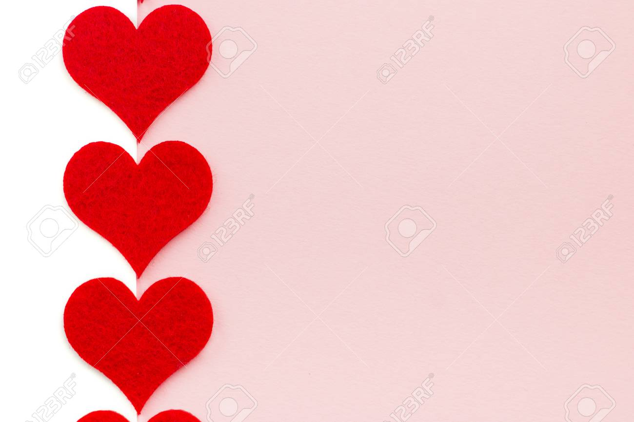 St Valentine's Day holiday background  Red hearts in a shape