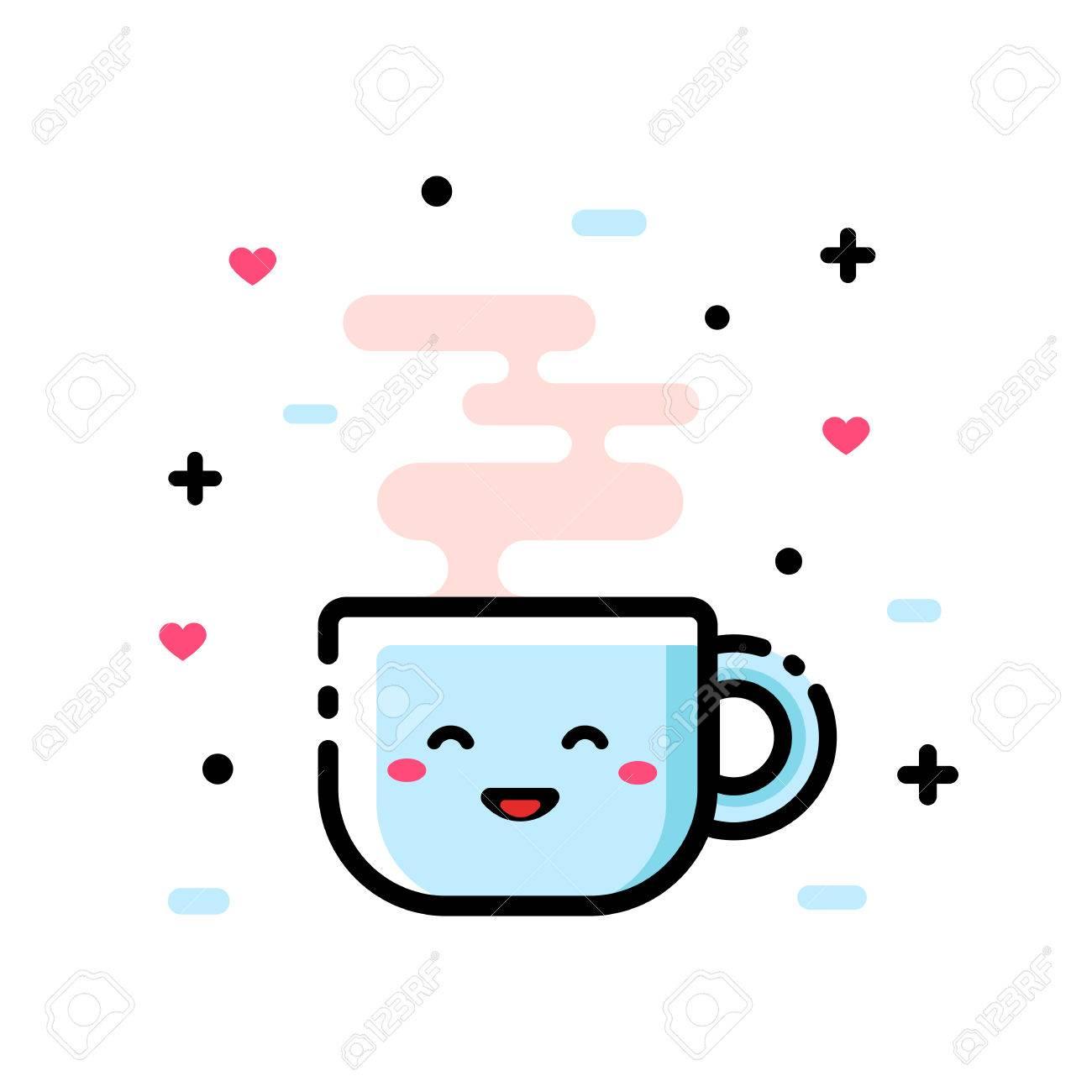 cute cartoon cup of tea funny cartoon vector illustration icon royalty free cliparts vectors and stock illustration image 73256134 cute cartoon cup of tea funny cartoon vector illustration icon