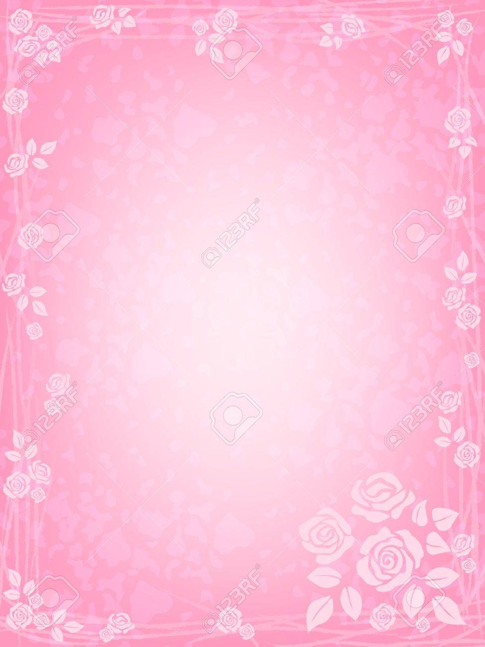 romantic background with pink roses Stock Vector - 11877470